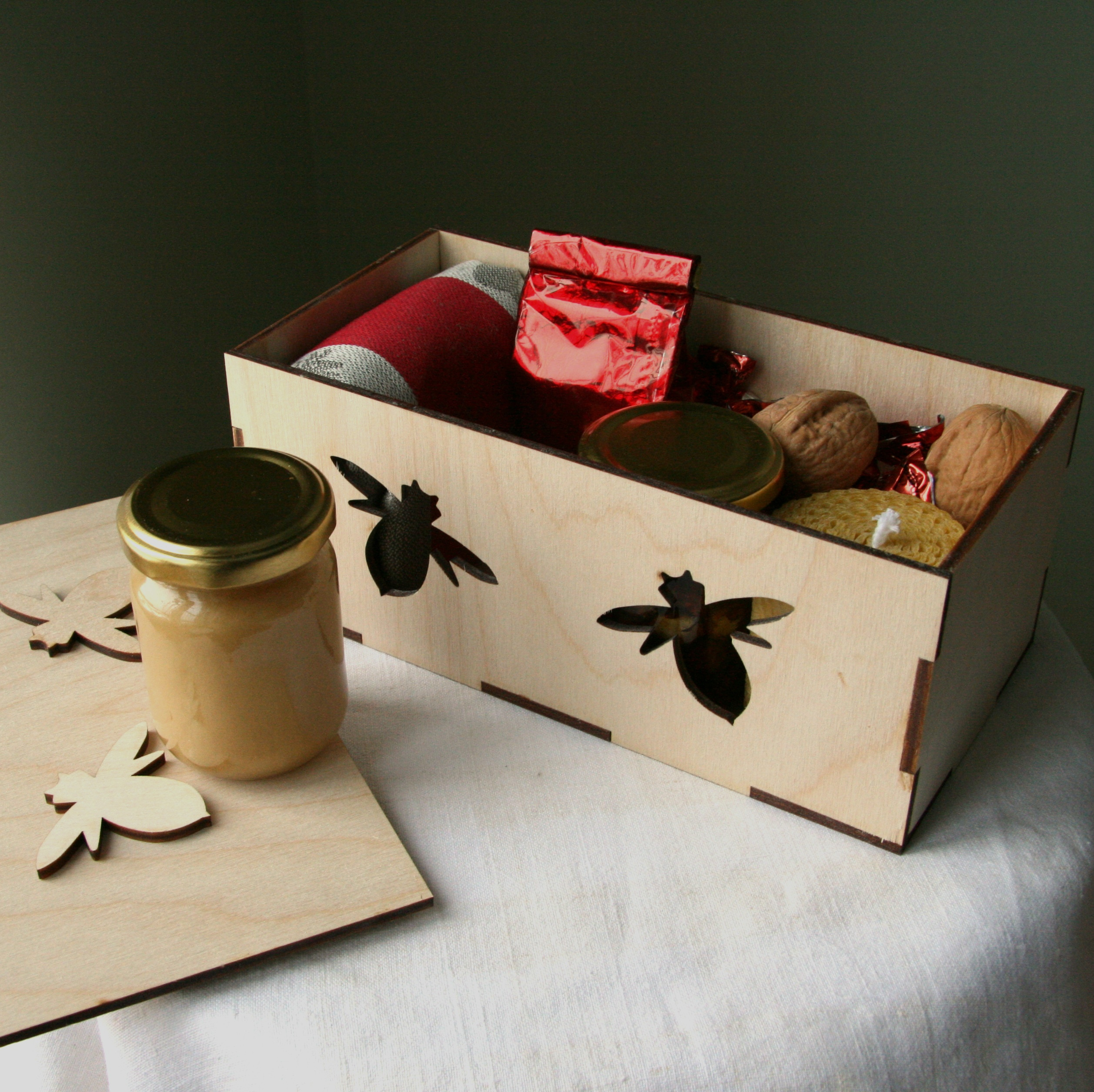 Dėžė medaus gėrybių